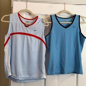 Nike fit dry 2 tanks. Blue. Ladies large